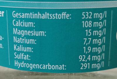 Regensteiner Mineralbrunnen - Ingredients