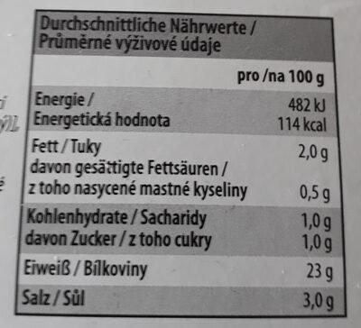 Putenbrust natur - Nutrition facts