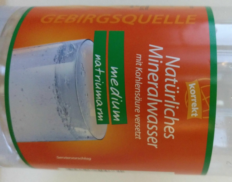 Natürliches Mineralwasser - Produkt