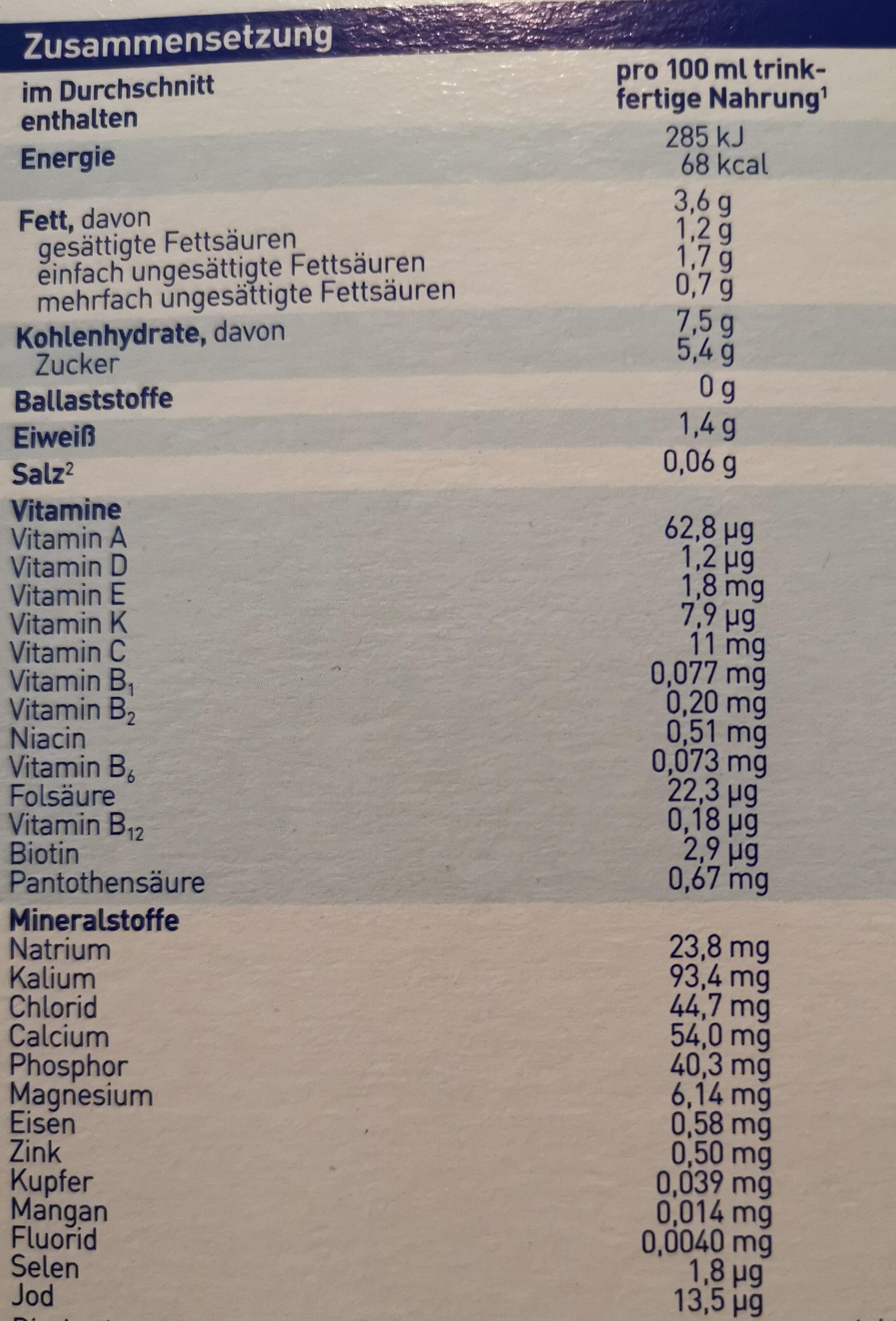 Bio Anfangsmilch 1 - Informations nutritionnelles - de