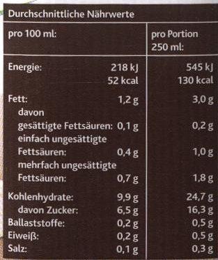 Reisdrink Vanille - Nutrition facts