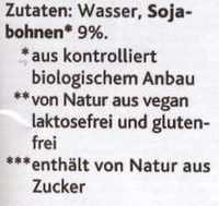 Sojadrink Natur - Ingredients