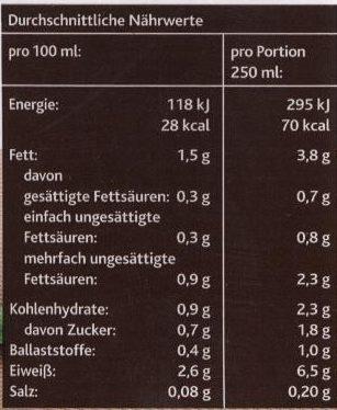 Sojadrink Natur - Nutrition facts