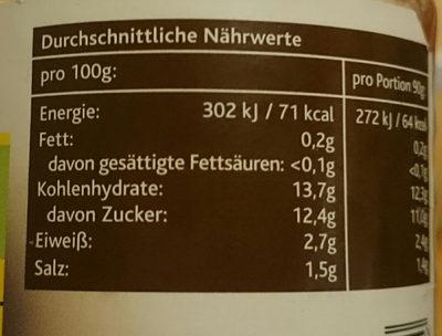 Kinder-Tomatensauce - Informations nutritionnelles - de