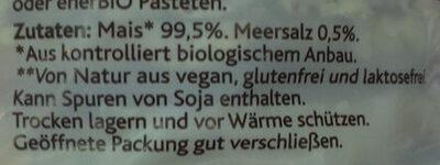 Maiswaffeln mit Meersalz - Ingrédients - de