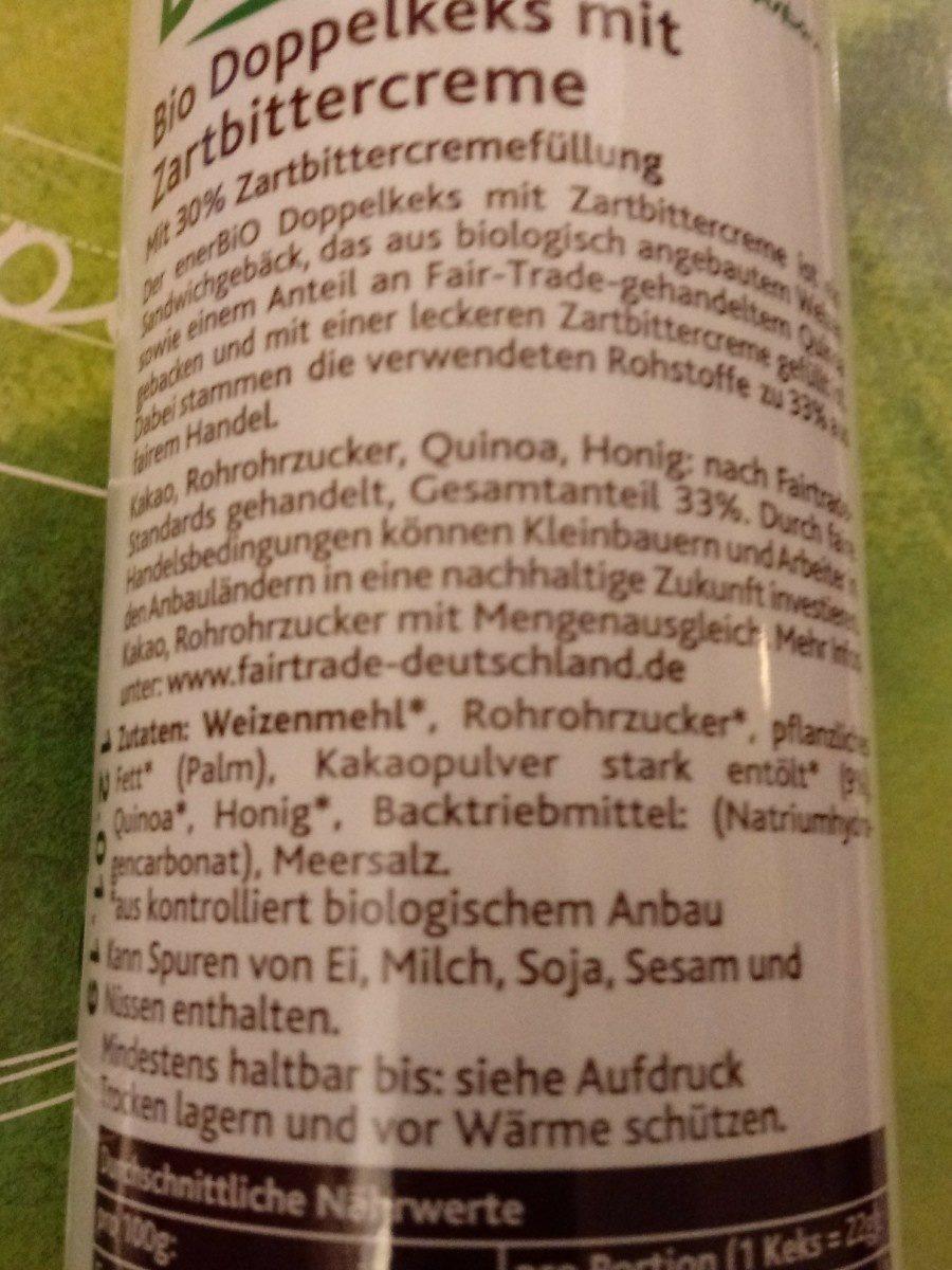 Doppelkeks mit Zartbittercreme - Ingredients - fr