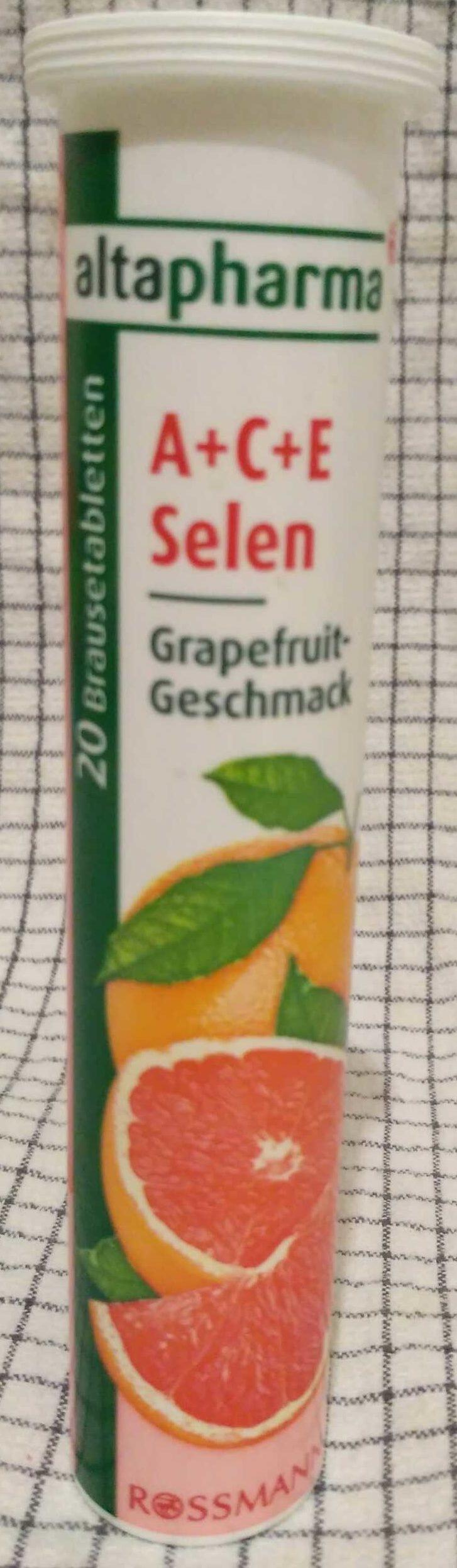 A + C + E Selen Grapefruit-Geschmack - Produit