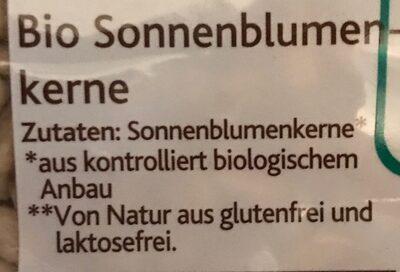 Sonnenblumenkerne - Ingredients - de