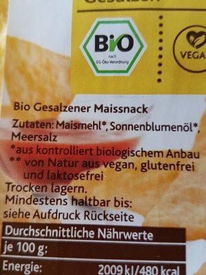 Tortilla chips Natur - Ingrédients