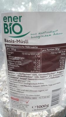 Basis-Müsli - Ingredients