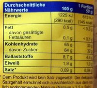Datteln - Nutrition facts