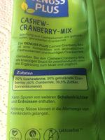 Cashew-Cranberry-Mix - Zutaten - de