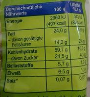 Reiswaffeln Zartbitter - Nutrition facts - de