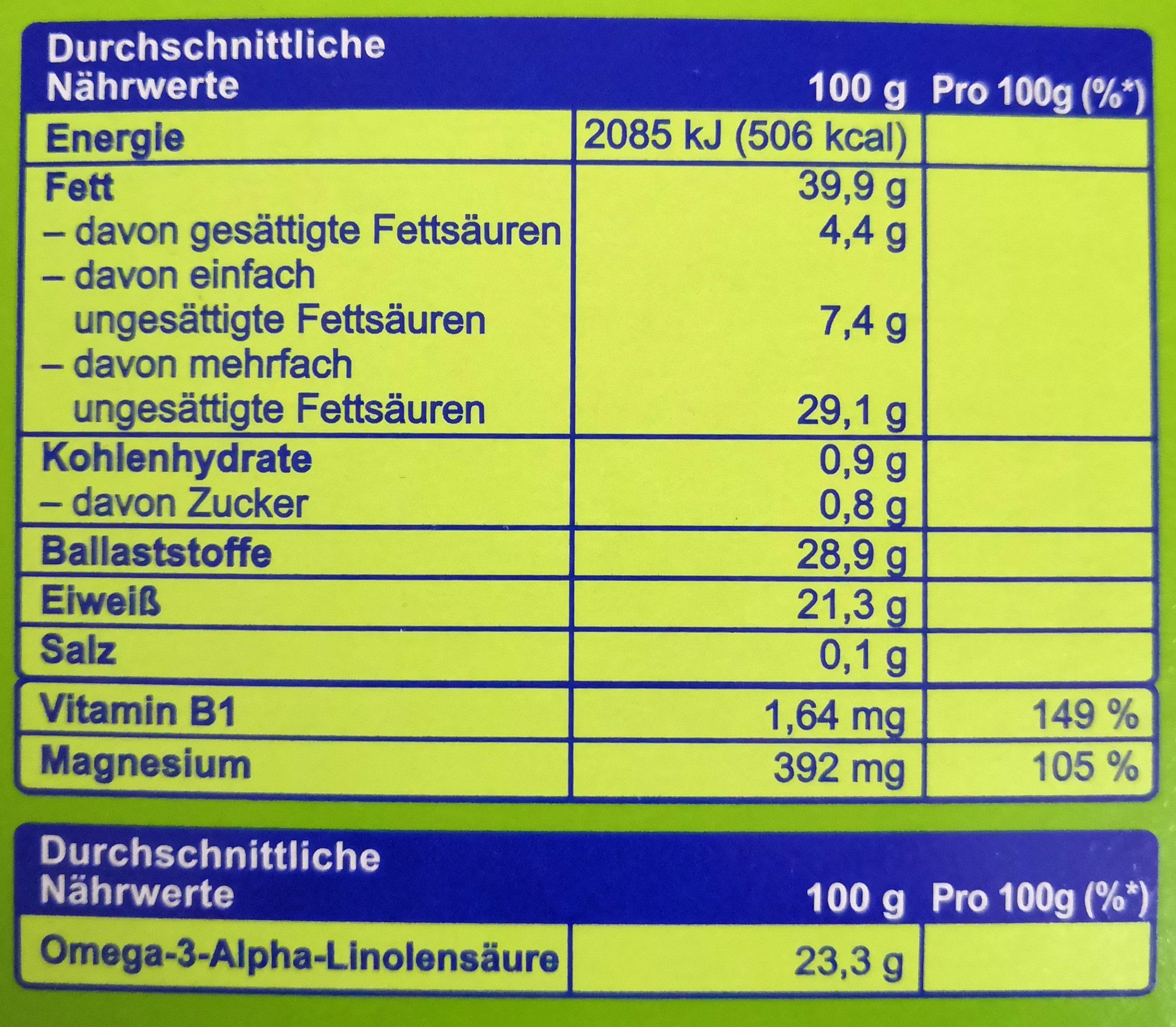Leinsamen ganzes Korn - Informations nutritionnelles - de