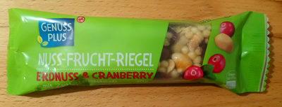 Nuss-Frucht-Riegel Erdnuss & Cranberry - Product