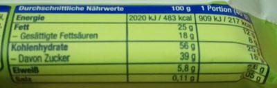 Nuss-Frucht-Riegel Cashew & Blaubeere - Nutrition facts