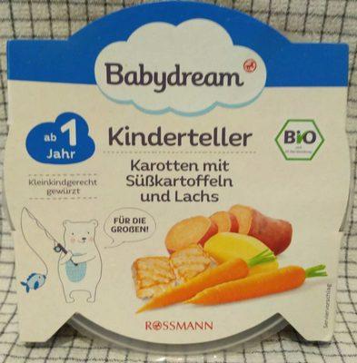 Kinderteller Karotten mit Süßkartoffeln und Lachs - Product