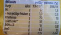 Früchteriegel Apfel Banane - Voedingswaarden - de
