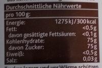 Agavendicksaft Dunkel - Informations nutritionnelles - de