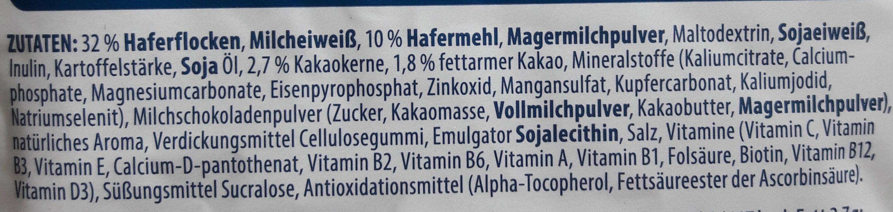 Porridge - Ingredienti - de