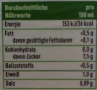 Rote Bete Saft - Nutrition facts - en