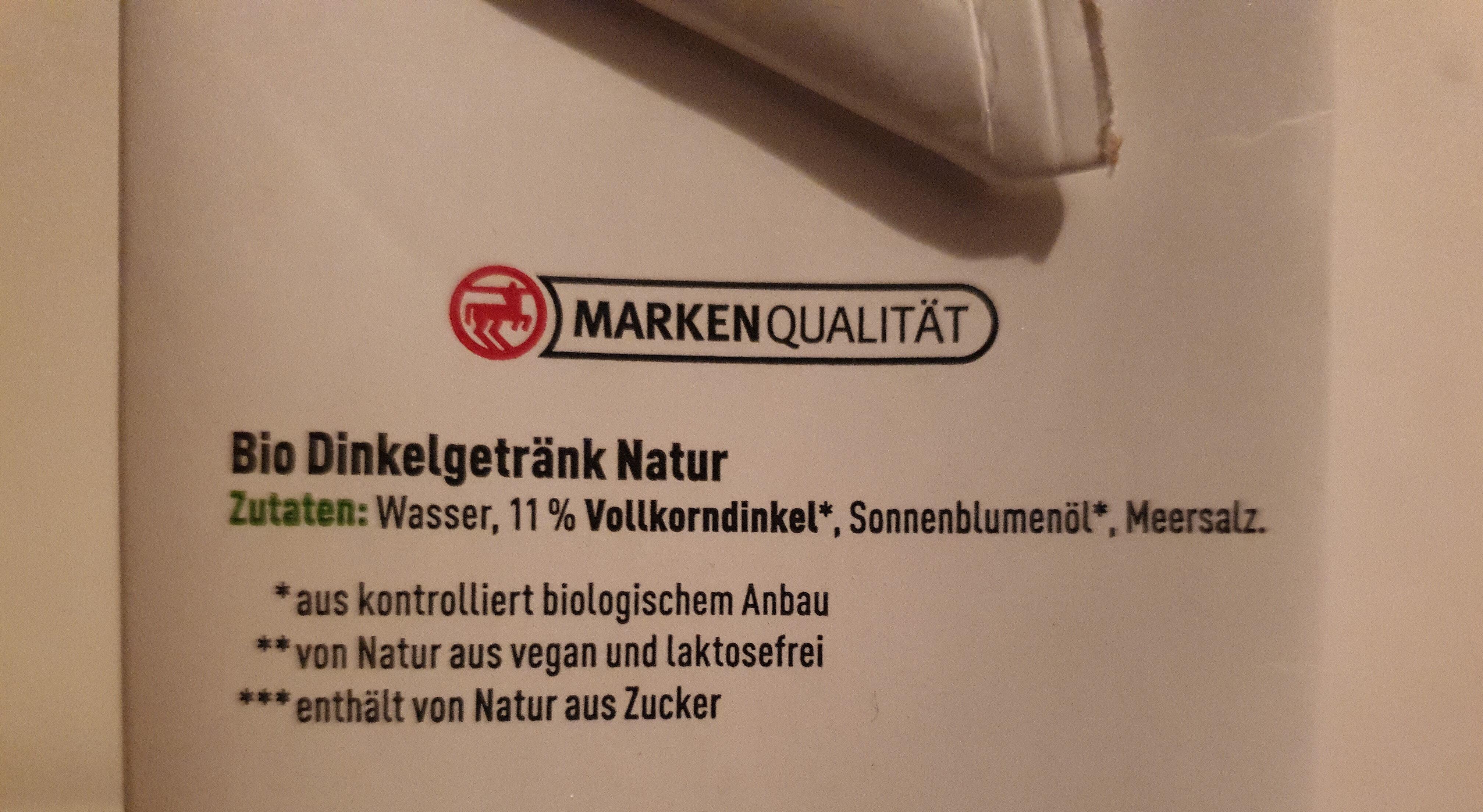 Dinkel Milch - Zutaten - de