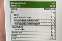 Dinkel Milch - Nährwertangaben - de