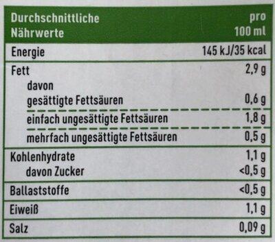 Cashew Drink Natur - Valori nutrizionali - de