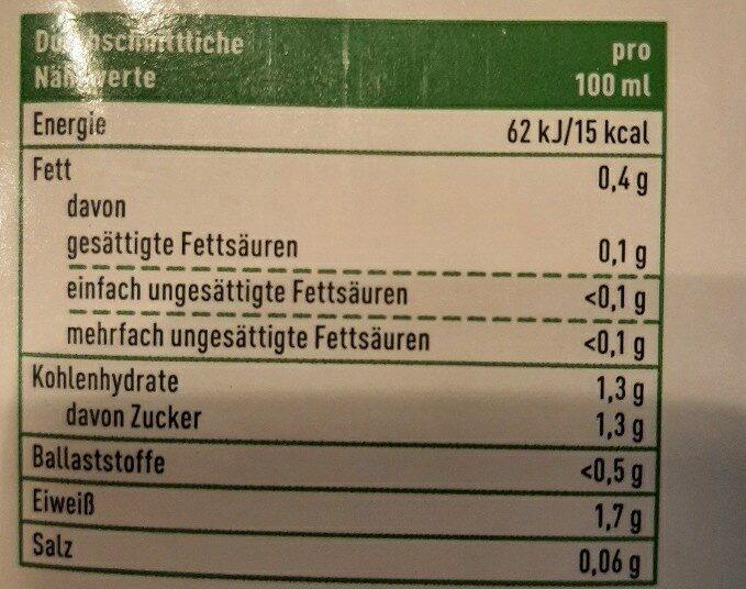Kokosdrink Natur - Nährwertangaben - de