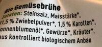 Gemüsebrühe - Ingredients