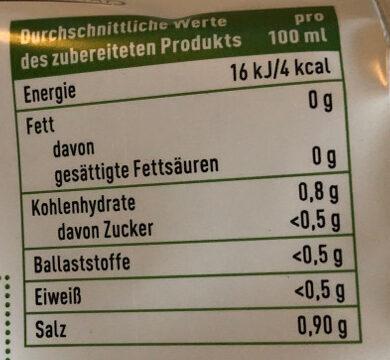 Gemüsebrühe - Nutrition facts
