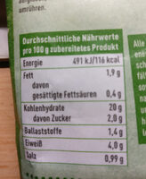 Nudeltasse Brokkoli - Voedigswaarden