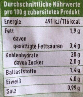 Nudeltasse Kaese & Brokkoli - Valori nutrizionali - de