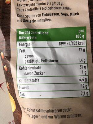 Linsen Chips mit Paprika - Nutrition facts