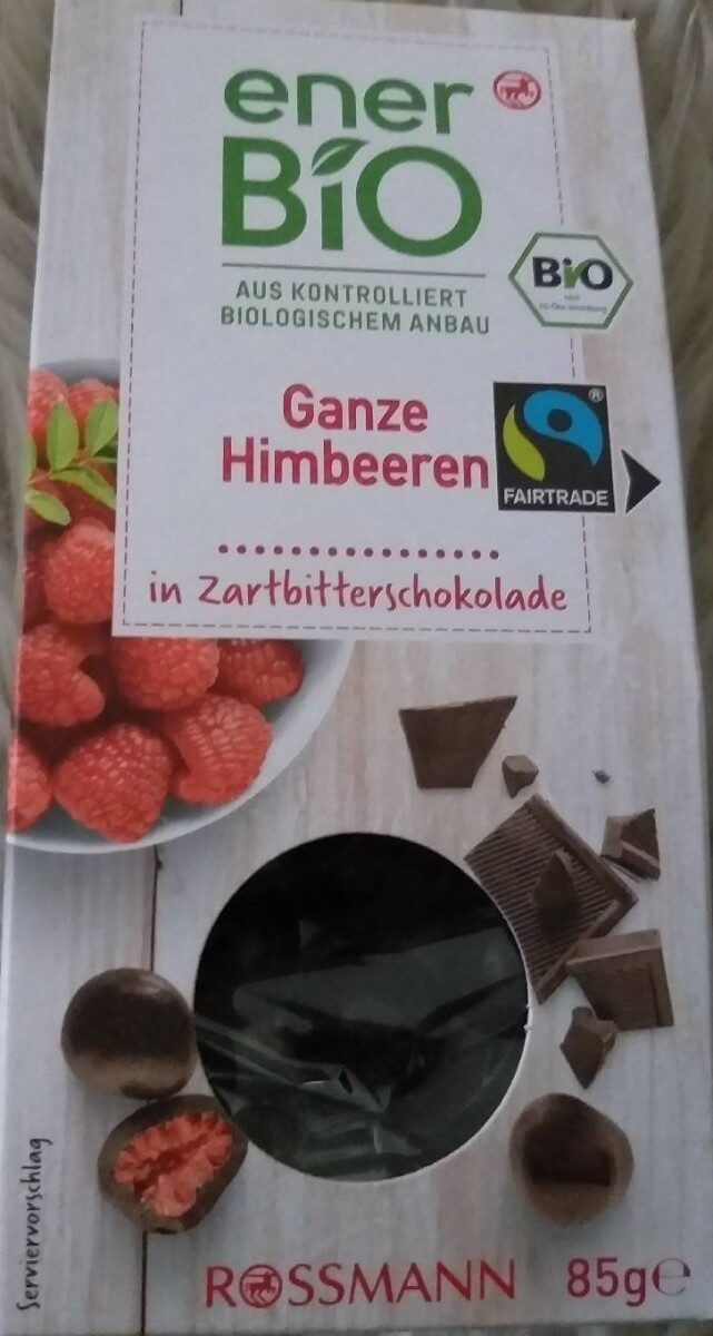 Ganze Himbeeren in Zartbitterschokolade - Prodotto - de