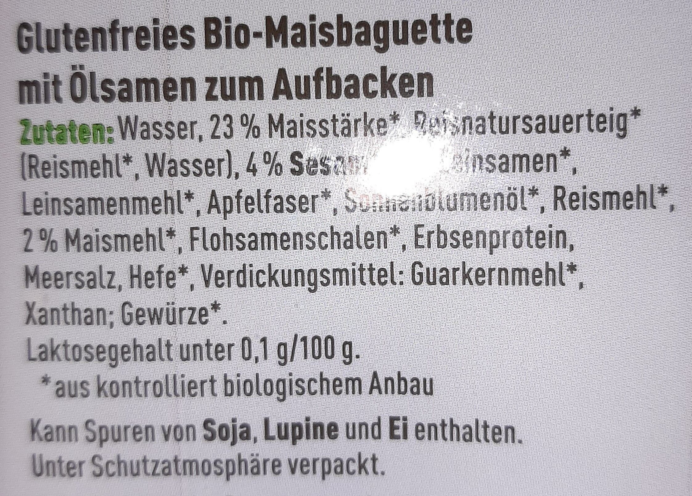 Baguette Mehrkorn - Ingredienti - de