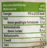 Baguette Mehrkorn - Valori nutrizionali - de