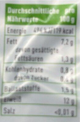 Ener Bio Tofu Natur - Nährwertangaben - de