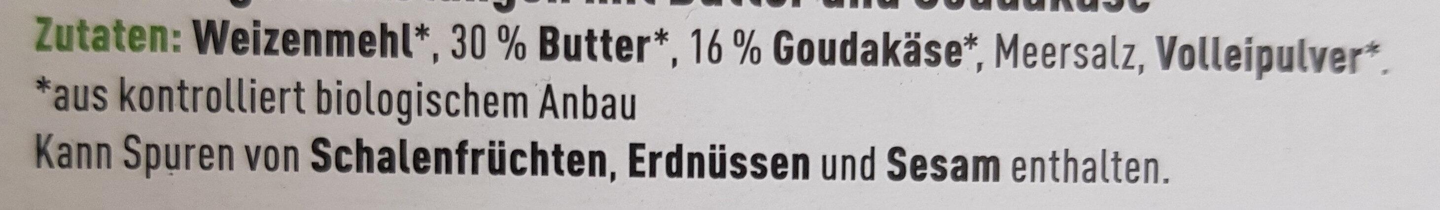 Käse Stangen mit Gouda - Zutaten - de
