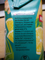 Eistee Zitrone Ingwer - Ingredients
