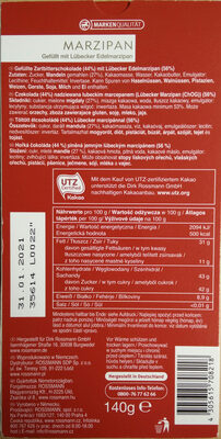 Das Exquisite Marzipan zartbitter - Zutaten - de