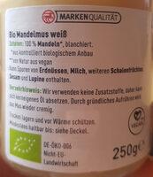 Mandelmus weiß - Zutaten - de