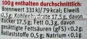 Schattenmorellen - Nutrition facts - de