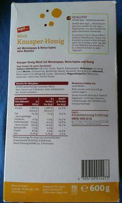 Müsli Knusper-Honig - Product