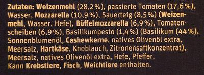 Manufaktur-Steinofenpizza Bufala - Ingredients