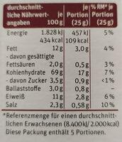 Grissini tradizionali - Nutrition facts