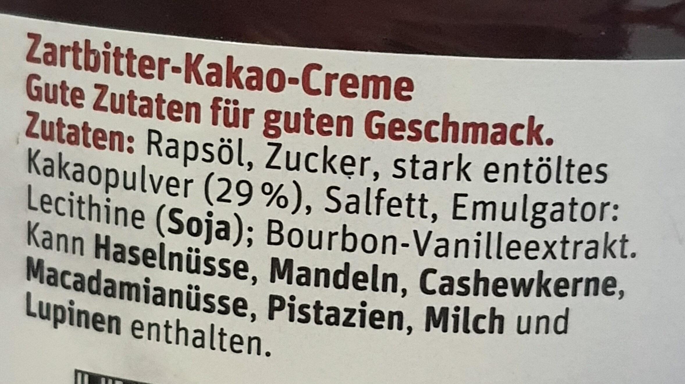 Zartbitter Aufstrich - Ingredienti - de