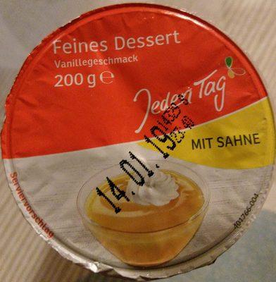 Feines Dessert Vanillegeschmackmit Sahne - Produkt