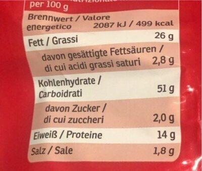 Flips - Voedingswaarden - de