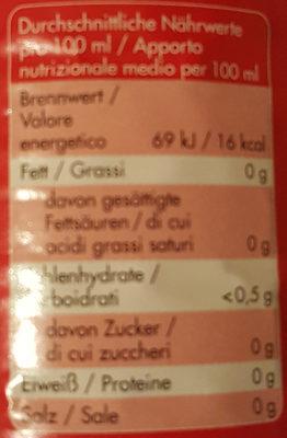 tafelessig aus branntwein - Nutrition facts
